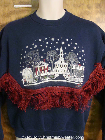 Winter Wonderland Town Tacky Christmas Sweatshirt