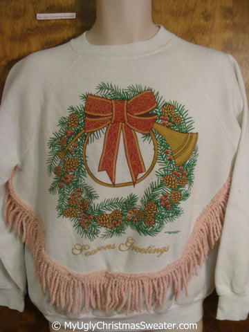 Cheap SEASONS GREETINGS Tacky Christmas Sweatshirt