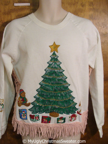 Holiday Tree with Gifts Tacky Christmas Sweatshirt