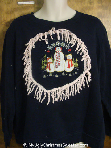Snowman Family Tacky Christmas Sweatshirt