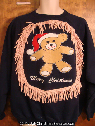 MERRY CHRISTMAS Bear Tacky Holiday Sweatshirt