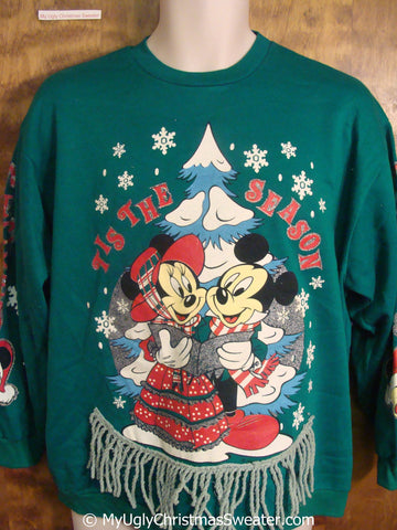 Mickey Mouse 80s Classic Tacky Christmas Sweatshirt