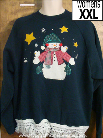 Happy Snowman Christmas Sweatshirt
