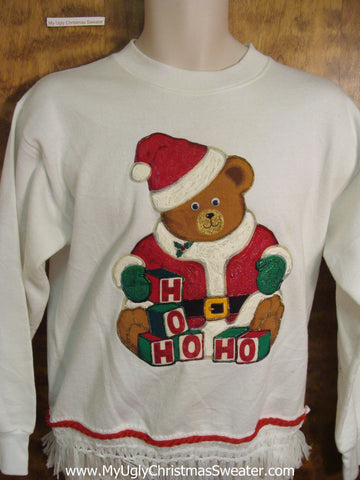 Ho Ho Bear Cheap Christmas Sweatshirt