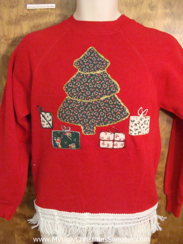 Crafty Tree and Gifts Christmas Sweatshirt