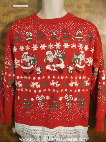Fabulous Red 80s Christmas Sweatshirt