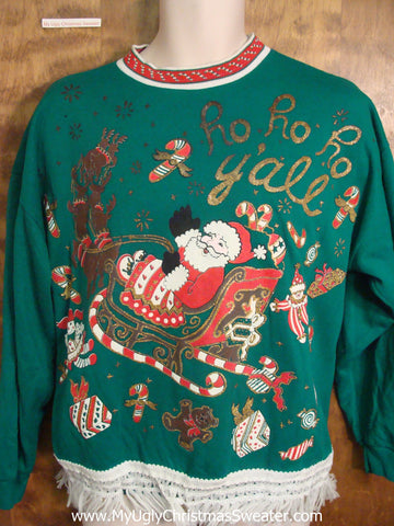 Best Green 80s Christmas Sweatshirt