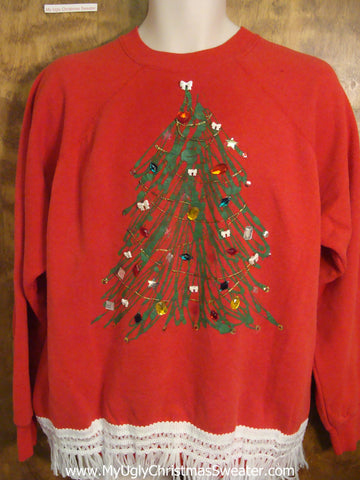 Glam Tree Red Christmas Sweatshirt