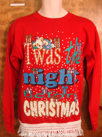 NIGHT BEFORE CHRISTMAS 80s Sweatshirt