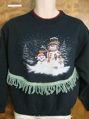 Cheap Navy Blue Christmas Sweatshirt