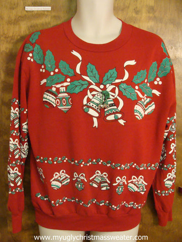 Awful Red Cheap Christmas Sweatshirt