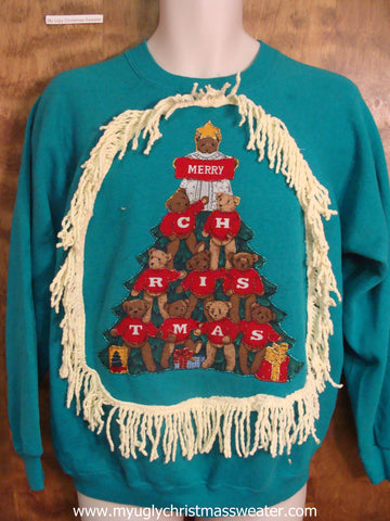 Amazing Bright Christmas Sweatshirt with Tree