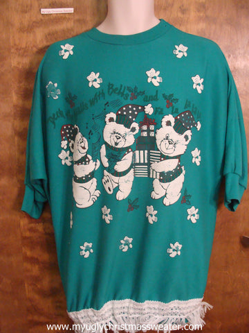 Short Sleeve 80s Christmas Sweatshirt