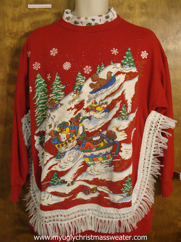 Winning 80s Red Christmas Sweatshirt
