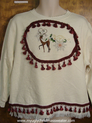 Reindeer and Tassles Christmas Sweatshirt