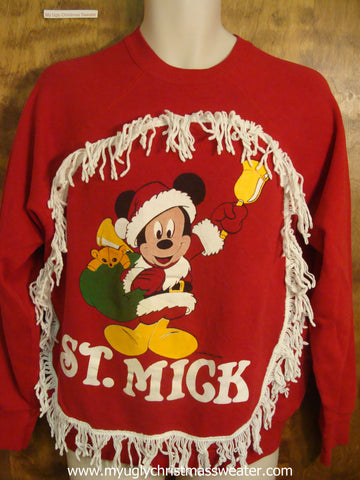 St Mick Mickey Mouse Christmas Sweatshirt