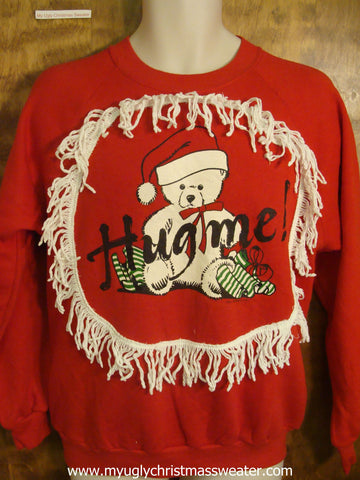 HUG ME Bear Christmas Sweatshirt