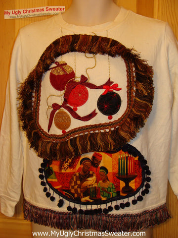 Kwanza Kwanzaa Tacky Sweatshirt  with Fringe (q64)