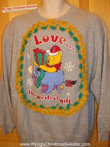 Horrible Funny Ugly Christmas Sweatshirt Winnie The Pooh