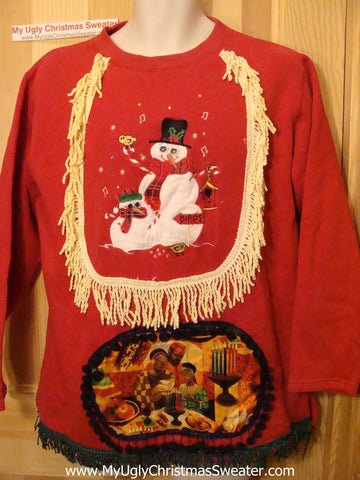 Horrible Funny Kwanzaa Sweatshirt Fringe