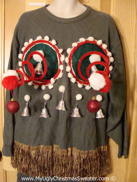Mens Naughty Tacky 3d Ugly Christmas Sweater Springy Funny