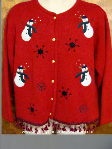 Rolly Polly Snowmen Ugly Christmas Sweater