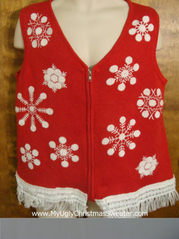 Fun Snowflakes Cute Christmas Sweater Vest
