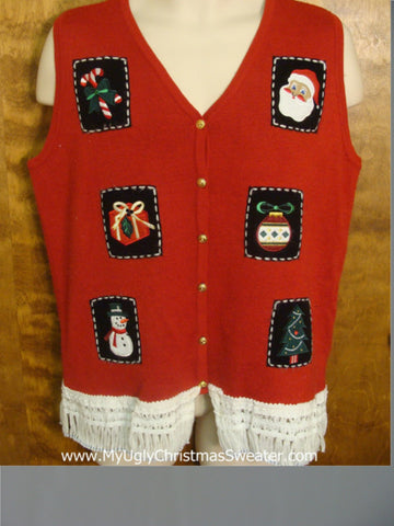 Tacky Xmas Favorites Funny Christmas Sweater Vest