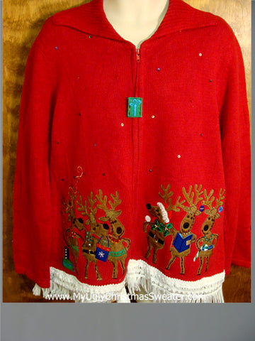 Party Reindeers Ugly Xmas Sweater