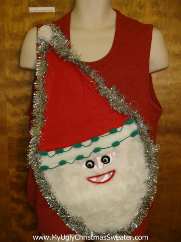 Wacky Santa Mens Ugly Christmas Sweater Vest