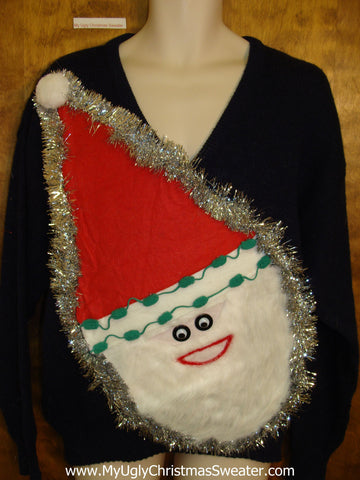 Wacky Santa Mens Ugly Christmas Sweater