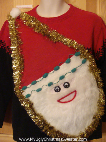 Wacky Santa Ugly Christmas Sweater Pullover Nordic