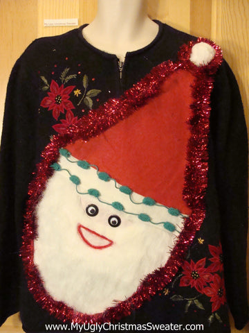 Wacky Santa Ugly Christmas Sweater Wms Mens XXXL