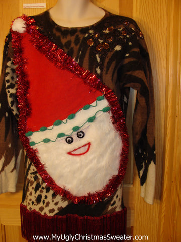 80s Holy Grail Wacky Santa Ugly Christmas Sweater