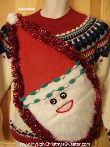 Wacky Santa Ugly Christmas Sweater Nordic Pullover