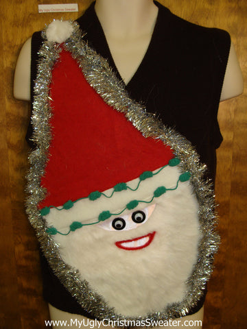 Wacky Santa Ugly Christmas Sweater Vest