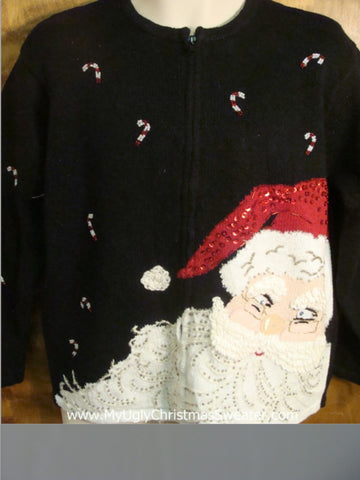 Smiling Santa Bad Christmas Sweater
