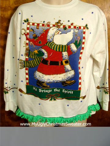 HE BRINGS THE SPIRIT Christmas Sweatshirt