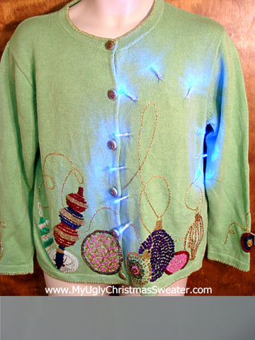 Light Up Cheesy Christmas Sweater