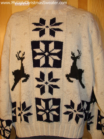 Ugly Christmas Sweater Party Vintage Reindeer Sweater Ralph Lauren (v21)