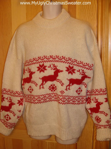 Tacky Classic Vintage Sweater 2sided Reindeer / Moose