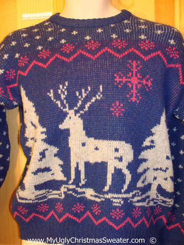 Ugly Christmas Sweater Party Vintage Tacky Sweater (v32)