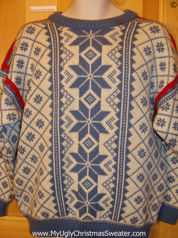 Ugly Christmas Sweater Party Vintage Nordic Sweater VOSS (Norway) (v39)
