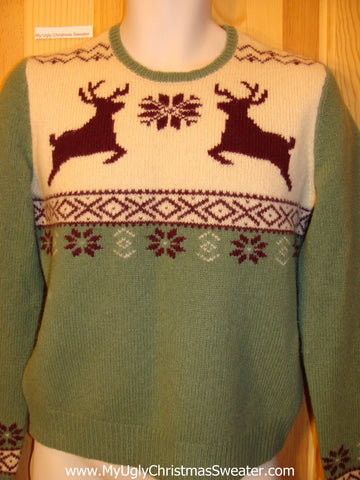 Ugly Christmas Sweater Party Vintage Tacky Sweater Reindeer