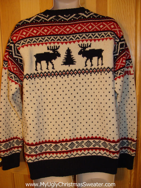 Ugly Christmas Sweater Party Vintage Ralph Lauren Reindeer
