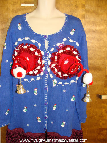 Funny Naughty 3D Ugly Xmas Sweater