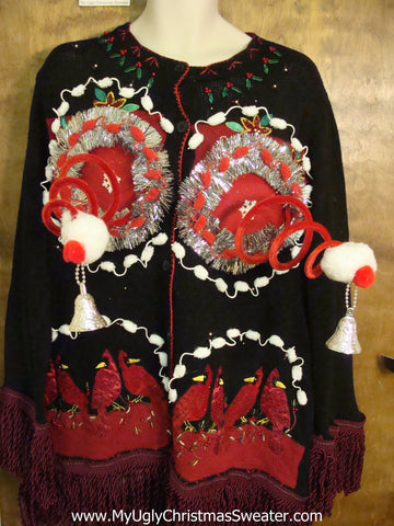 Funny Naughty 3D Ugly Xmas Sweater Cardigan