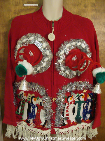 Funny Naughty 3D Boobs Ugly Xmas Sweater