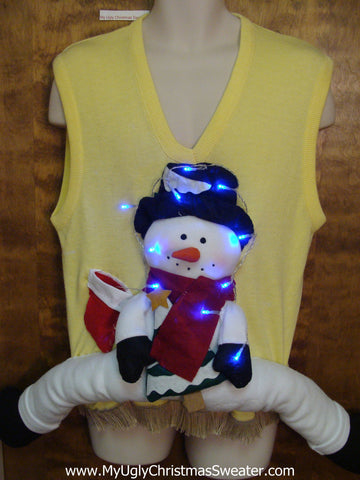 Funny 3D Ugly Christmas Sweater Vest with Lights