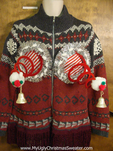 Two Sided Nordic Mess Naughty Ugly Christmas Sweater